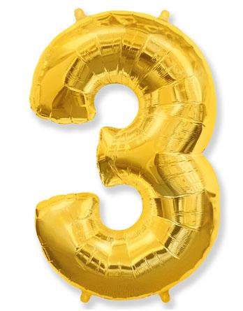 """Цифра """"3"""" (разные цвета)"""