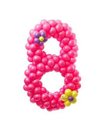 Восьмерка из шариков