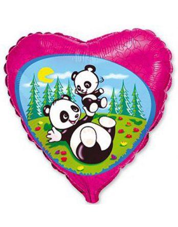 Сердечко с пандой