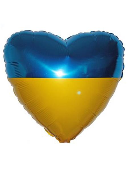 Сердечко с флагом Украины