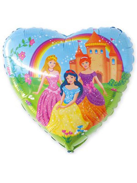 Сердечко с принцессами
