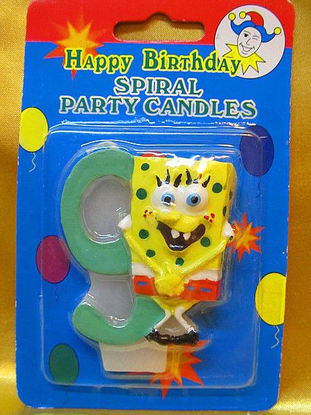 """Свечи """"Sponge Bob"""""""