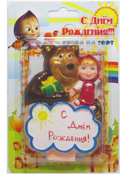 "Свеча ""Маша и медведь"""