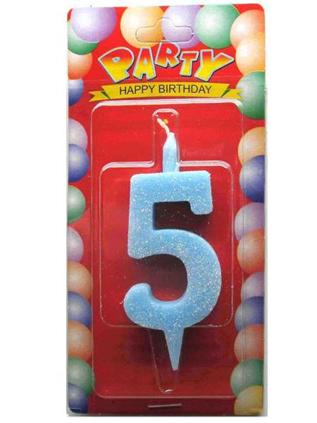 """Свечи-цифры """"5"""""""