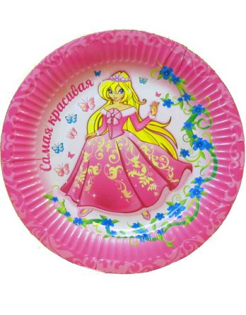 Тарелка с принцессой №1