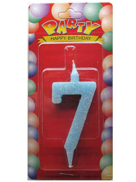 """Свечи-цифры """"7"""""""