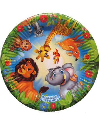 Тарелка с животными