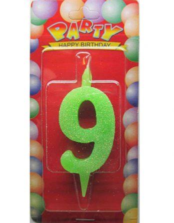 """Свечи-цифры """"9"""""""