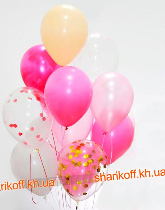 Набор розовый с конфетти