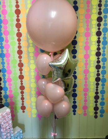 Розовый с гигантом