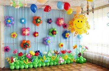 Украшение выпускных вечеров в садиках с помощью воздушных шаров